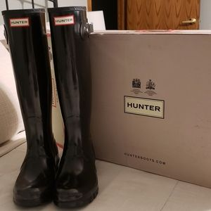 Hunter Original Black gloss rain boots